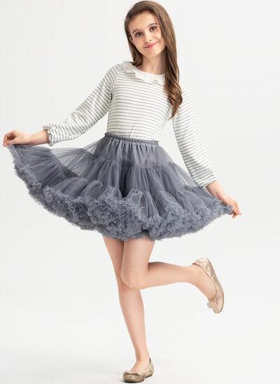 Balowa/Księżniczka Krótka/Mini Sukienka dla Dziewczynki Sypiącej Kwiaty - Z Żabot