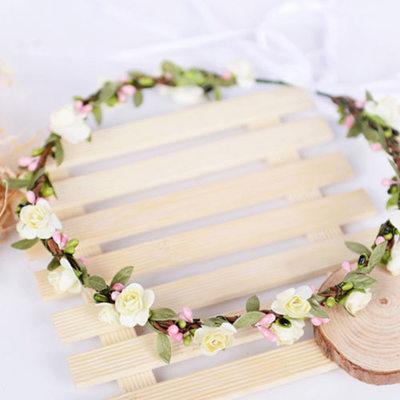 Soie artificielle/Papier avec Ruban Fleur Bandeau