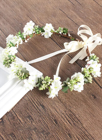 Fleur En Soie avec Une fleur Fleur Bandeau (Vendu dans une seule pièce)