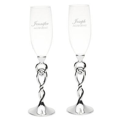 Marié - Personnalisé Verre Flûtes à Champagne (Lot de 2)