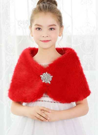 Faux Fur With Rhinestones Wraps