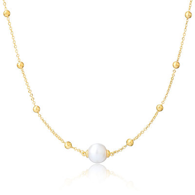 18k Gold Plated 18k Gold Plated Silver Charm Necklace