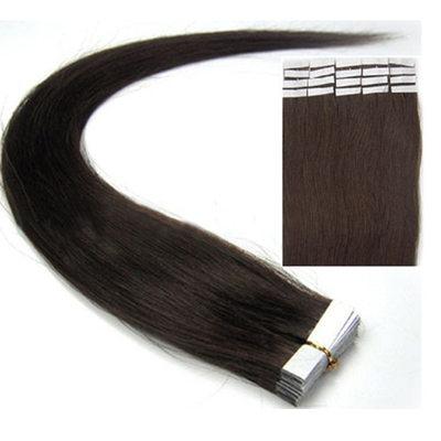 5A Virgin / remy Rakt människohår Tape i hårförlängningar 20PCS 50g