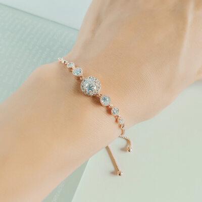 Anti-oksidering Uttalelse Brude armbånd Brudepike armbånd med Kubikk Zirkonia -