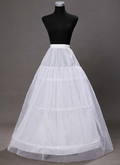 Women Tulle Netting/Taffeta/Satin/Lace Ankle-length 2 Tiers Bustle