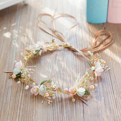 Señoras Estilo clásico Rhinestone/La perla de faux/Flores de seda Diademas