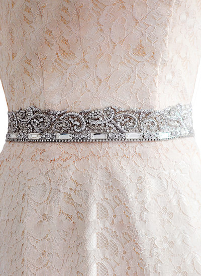 Elegant/Beautiful/Gorgeous Satin Sash With Rhinestones