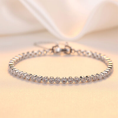 Anti-oxidation Statement Bridal Bracelets Bridesmaid Bracelets -