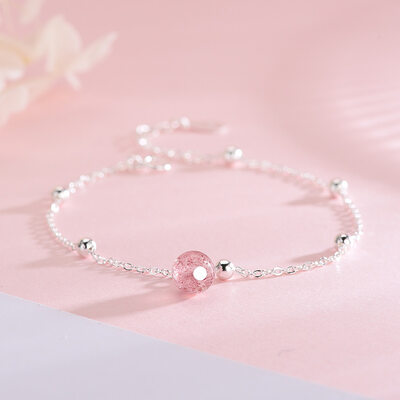 Anti-oxidation Delicate Chain Charm Bracelets Chain Bracelets With Crystal -