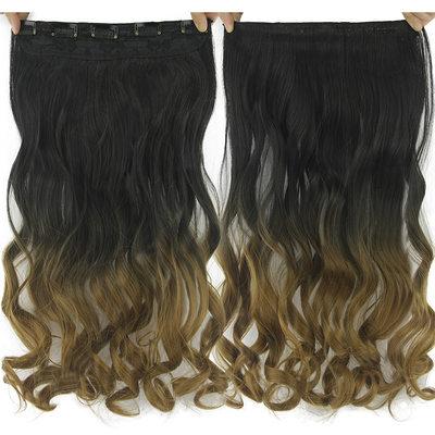 Cuerpo Pelo sintético Extensiones de cabello con clip (Vendido en una sola pieza)