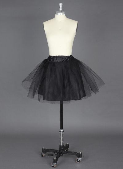Women Nylon/Tulle Netting Short-length 2 Tiers Petticoats