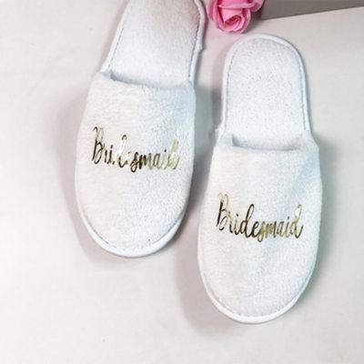 Regali Damigella D'onore - velluto tessuto Pantofole