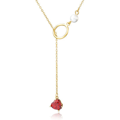 18k Gold Plated 18k Gold Plated Silver Flower Lariat Necklace
