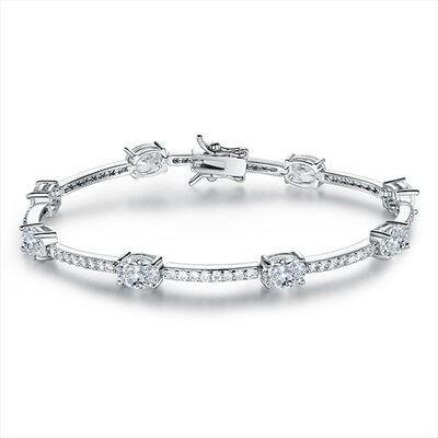 Antioxidante Tenis Bracelets De Mariée Bracelets de demoiselle .d'honneur con Cubic zirconia -