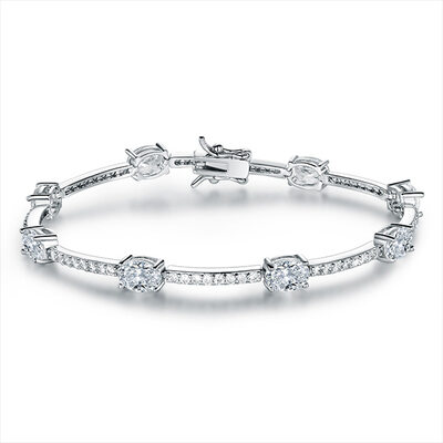 Anti-oxidation Tennis Brudarmband Brudtärna armband med Cylinder Zirkonium -