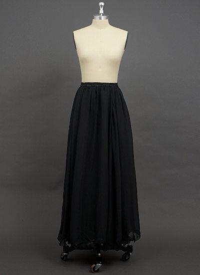 Women Chiffon Floor-length 2 Tiers Petticoats