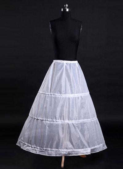 Women Tulle Netting/Satin Tea-length 1 Tier  Bustle