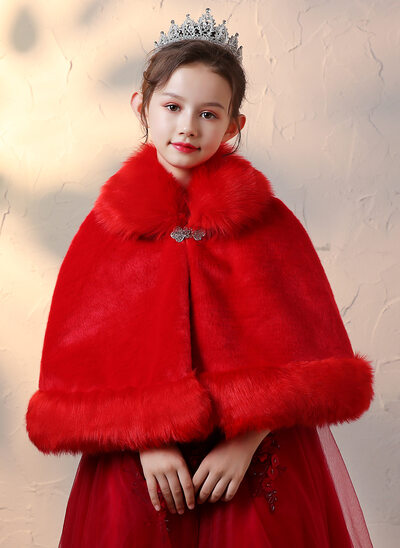 Faux Fur Wraps With Imitation Rhinestone
