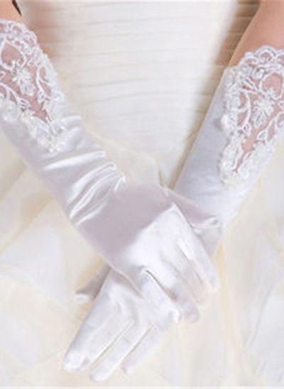 Satin Ellenbogen Länge Braut Handschuhe