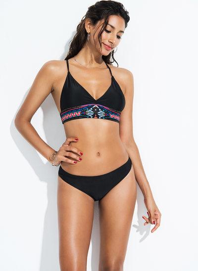 Sexy Print Polyester Bikinis Swimsuit