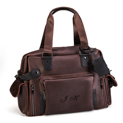Groomsmen Gifts - Personalized Modern Classic Solid Color Imitation Leather Bag