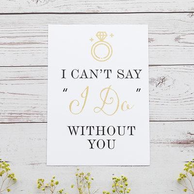 Groomsmen Gaver - Elegant Pap Papir Bryllupsdagskort