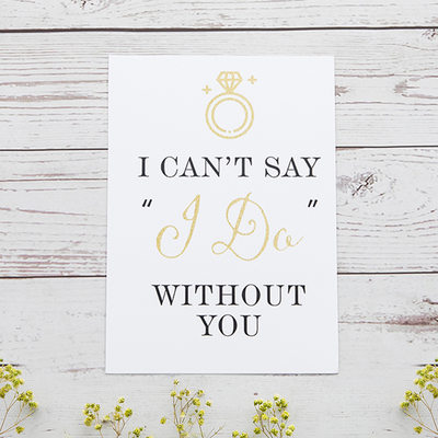 Groomsmen Gifts - Elegant Card Paper Wedding Day Card