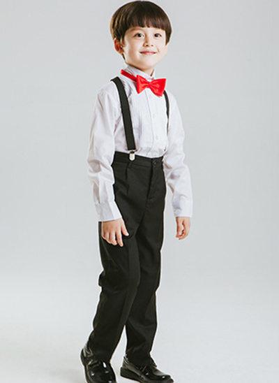 мальчиков 4 шт. официальный Костюмы кольценосцев /Page Boy Костюмы с Рубашка Штаны петля подвязка
