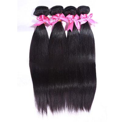 5A Bakire / remy Düz İnsan saçı İnsan Saç Örgüsü (Tek parça halinde satılır) 100 g