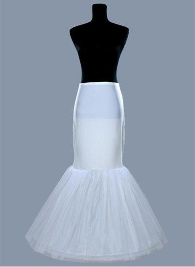 Women Tulle Netting/Satin Floor-length 1 Tiers Bustle