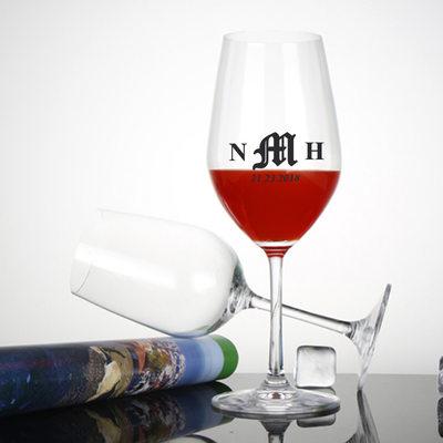 Presentes Padrinhos De Casamento - Personalizado Vintage Vidro Copo de vinho