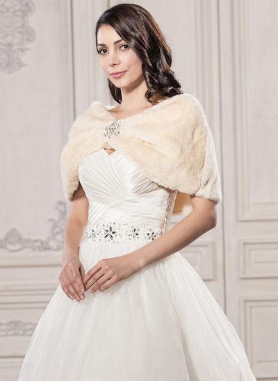 Faux Fur Huwelijk Sjaal