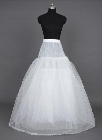Women Nylon/Tulle Netting Floor-length 6 Tiers Petticoats