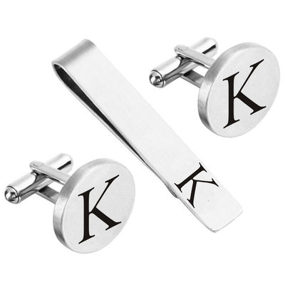 Groomsmen Gifts - Personalized Modern Alloy Cufflinks Tie Clip