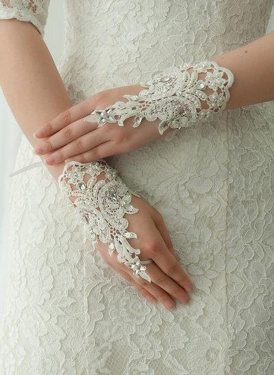 Spets Wrist Längd Handskar Bridal