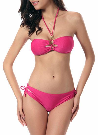 Sexy Colore solido Bikini