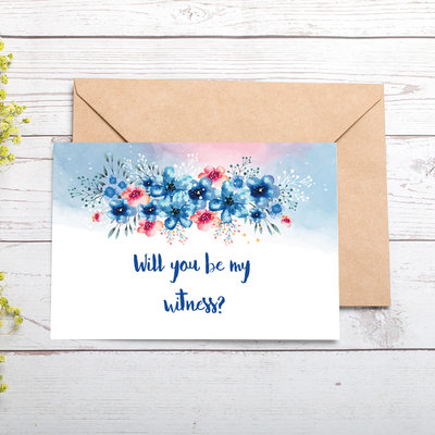 Bridesmaid Gifts - Attractive Special Eye-catching Card Paper Wedding Day Card (Set of 2)