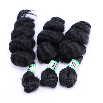 Loose Synthetic Hair Human Hair Weave (Set of 3) 210g