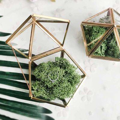 Presentes Da Noiva - Bonito Vidro Liga Caixa de jóias