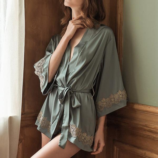 Cetim Clássico Nupcial/Feminino roupa de dormir