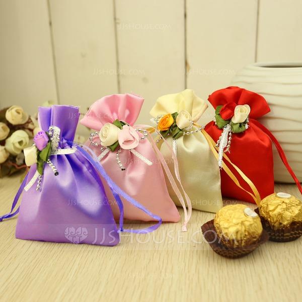 Klassisch Geschenktaschen mit Blumen (Satz von 12)
