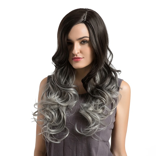Loose Wavy Synthétique Perruques capless 390g