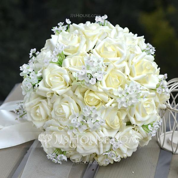 Charming Round PE Bridal Bouquets/Bridesmaid Bouquets -