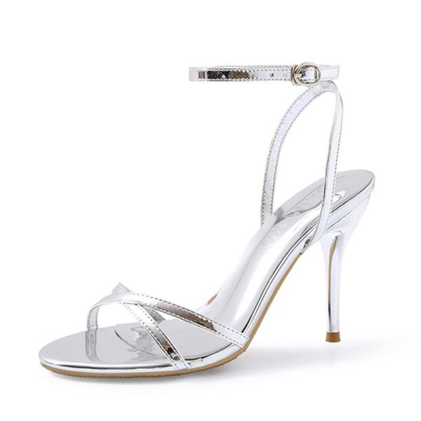 Naisten Kiiltonahka Piikkikorko Sandaalit Kantiohihnakengät kengät