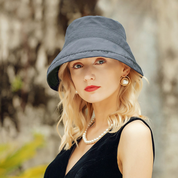 Ladies ' Classic/Enkle Polyester med Bowknot Bucket Hat
