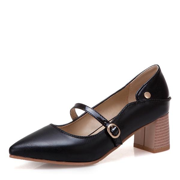 De mujer Cuero Tacón ancho zapatos