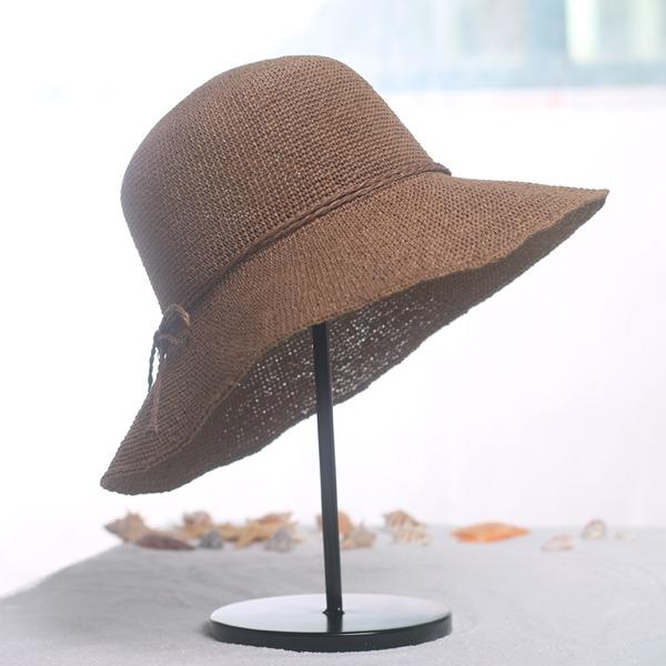 Ladies ' Móda/Vynikající Rafie slámy S Bowknot Slaměný klobouk