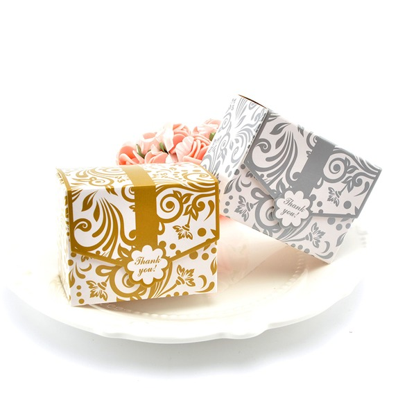 Forever Love Cuboid Card Paper Favor Boxes (Set of 100)
