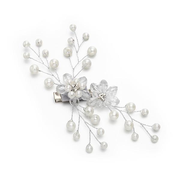 Dame Særlige Crystal/Imiteret Pearl Hårnåle med Venetiansk Perle/Crystal (Sælges i et enkelt stykke)