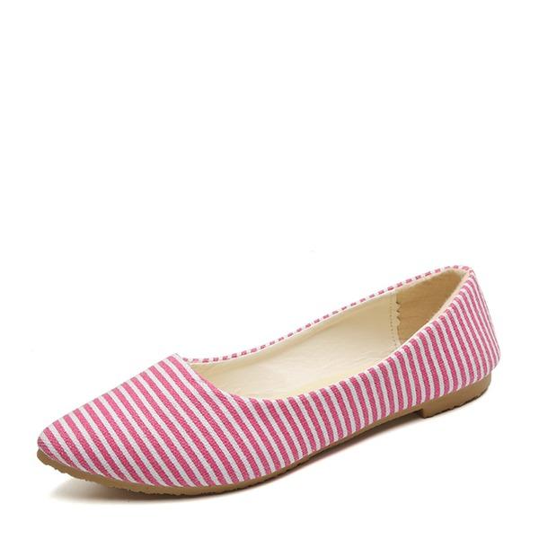 Frauen Leinwand Flascher Absatz Flache Schuhe Geschlossene Zehe mit Andere Schuhe